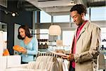 African American couple shopping in a home furnishings retail store. Stock Photo - Royalty-Free, Artist: iofoto                        , Code: 400-04450260
