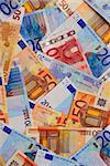Background of european union currency paper bills Stock Photo - Royalty-Free, Artist: Elenathewise                  , Code: 400-04453081