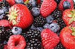 Background of fresh produce of mixed berries Stock Photo - Royalty-Free, Artist: Petxeve                       , Code: 400-04453306