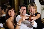 healthy living: friends at a restaurant having fun together Stock Photo - Royalty-Free, Artist: diego_cervo                   , Code: 400-04453318