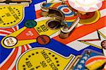 Close up of a 1976's pinball machine Stock Photo - Royalty-Free, Artist: raphspam                      , Code: 400-04453347