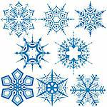 Snowflakes C - Detailed vector illustration as graphic source Stock Photo - Royalty-Free, Artist: derocz                        , Code: 400-04454013