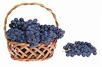 Grape in basket Stock Photo - Royalty-Freenull, Code: 400-04459069