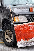 snow plow truck - Snow plow truck on a road during a snowstorm Stock Photo - Royalty-Freenull, Code: 400-04459816