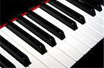 piano keyboard in closeup Stock Photo - Royalty-Free, Artist: degryse                       , Code: 400-04460077