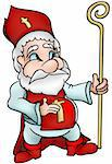 Saint Nicholas - Highly detailed and coloured cartoon vector illustration Stock Photo - Royalty-Free, Artist: derocz                        , Code: 400-04460327