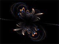 frbird - a high res fractal that resembles a phoenix, lot of small sparks Stock Photo - Royalty-Freenull, Code: 400-04464543