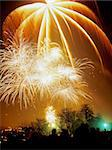 fireworks display at alexandra palace haringey north london Stock Photo - Royalty-Free, Artist: davidmartyn                   , Code: 400-04465455
