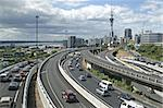 Late afternoon traffic in Auckland, New Zealand; downtown skyline with Sky-Tower in the background Stock Photo - Royalty-Free, Artist: oralleff                      , Code: 400-04466071