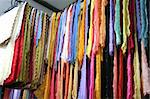 Traditional asian fabrics and clothes for sale in a shop in Malaysia Stock Photo - Royalty-Free, Artist: kgtoh                         , Code: 400-04468488
