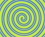 Dizzying spiralling lines in blue, lime green, yellow Stock Photo - Royalty-Free, Artist: karimala                      , Code: 400-04469545