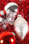 Christmas decorations of christmas balls for holiday season Stock Photo - Royalty-Free, Artist: vbrownjd                      , Code: 400-04470432