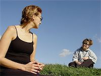 2 friends relaxing on the grass Stock Photo - Royalty-Freenull, Code: 400-04471081