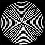 Dizzying spiralling lines in black and white Stock Photo - Royalty-Free, Artist: karimala                      , Code: 400-04475271