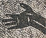 Mosaic hand at Ostia Antica, Italy Stock Photo - Royalty-Free, Artist: rgbdave                       , Code: 400-04475484