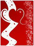 Computer designed abstract background - Valentine's day card Stock Photo - Royalty-Free, Artist: Lizard                        , Code: 400-04477363
