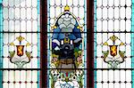 Stained glass window in Dunedin Train Station, New Zealand Stock Photo - Royalty-Free, Artist: oralleff                      , Code: 400-04479521