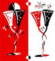 vector illustration for new year eve and Valentine's day. Stock Photo - Royalty-Freenull, Code: 400-04479839