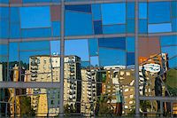 Quarter Deusto reflected in the palace euskalduna, Bilbao Stock Photo - Royalty-Freenull, Code: 400-04480206