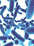 3d rendered illustration of many blue bacteria Stock Photo - Royalty-Free, Artist: Eraxion                       , Code: 400-04480967