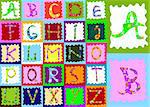 abstract design with alphabet; creative design for children Stock Photo - Royalty-Free, Artist: dip                           , Code: 400-04485911