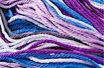 Closeup of multicolored whool threads Stock Photo - Royalty-Free, Artist: devulderj                     , Code: 400-04486230