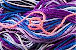 Closeup of multicolored whool threads Stock Photo - Royalty-Free, Artist: devulderj                     , Code: 400-04486231