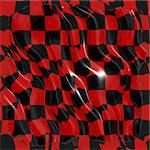 Black and red rippled fabric Stock Photo - Royalty-Free, Artist: icholakov                     , Code: 400-04486975