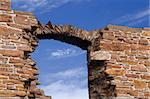 Detail of window arch weathered to a line of stones Stock Photo - Royalty-Free, Artist: moonmeister                   , Code: 400-04487197