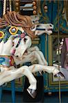 Close up of carousel horse on merry go round