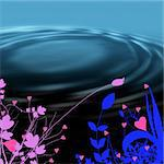flower harts with water ripple Stock Photo - Royalty-Free, Artist: redfig                        , Code: 400-04489551