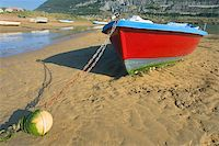 Boats Moored At The Beach Islares, Cantabria, Spain Stock Photo - Royalty-Freenull, Code: 400-04491983
