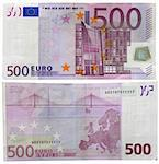 One banknote 500 euro