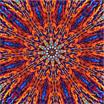 Computer generated tie dye kaleidoscope created from a photograph of a sunset Stock Photo - Royalty-Free, Artist: karimala                      , Code: 400-04494021