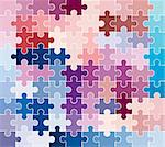 jigsaw puzzle pattern Stock Photo - Royalty-Free, Artist: dip                           , Code: 400-04495003