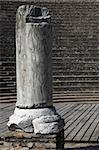 A pillar in a roman theatre with tiers in background Stock Photo - Royalty-Free, Artist: Nouk                          , Code: 400-04495531