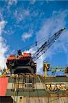working crane of an oil rig in harbor Stock Photo - Royalty-Free, Artist: njaj, Code: 400-04495601
