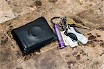 Men's wallet with condom ring and car keys. Stock Photo - Royalty-Free, Artist: Macsuga                       , Code: 400-04496246