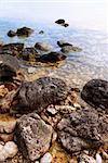 Rocks in clear water of Georgian Bay at Bruce peninsula Ontario Canada Stock Photo - Royalty-Free, Artist: Elenathewise                  , Code: 400-04499038