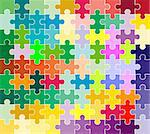 jigsaw puzzle pattern Stock Photo - Royalty-Free, Artist: dip                           , Code: 400-04503319