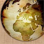 aged Europe map-vintage artwork Stock Photo - Royalty-Free, Artist: ilolab                        , Code: 400-04503626