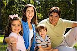 Hispanic outdoor family portrait. Stock Photo - Royalty-Free, Artist: iofoto                        , Code: 400-04507168