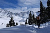 Friend of mine heading up the trail to mayflower gulch Stock Photo - Royalty-Freenull, Code: 400-04507208