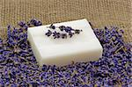 Perfume of lavender and soap on brown Background Stock Photo - Royalty-Free, Artist: Teamarbeit                    , Code: 400-04507511