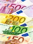 Arranged euro banknotes Stock Photo - Royalty-Free, Artist: pisicax                       , Code: 400-04509167