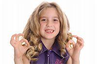 little girl ok Stock Photo - Royalty-Freenull, Code: 400-04510898