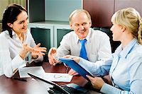 Image of business discussion of a new project at meeting Stock Photo - Royalty-Freenull, Code: 400-04511939