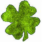 Burnt parchment with the shape of the typical Saint Patrick's day celebration clovers Stock Photo - Royalty-Free, Artist: myper                         , Code: 400-04513309