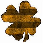 Burnt parchment with the shape of the typical Saint Patrick's day celebration clovers Stock Photo - Royalty-Free, Artist: myper                         , Code: 400-04513313