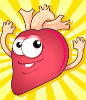 Illustration of heart with hands Stock Photo - Royalty-Freenull, Code: 400-04514242